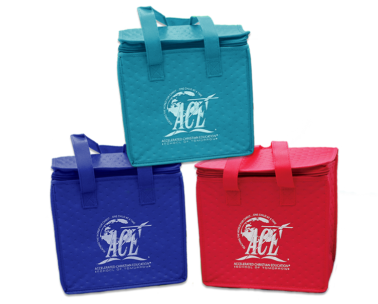 lunch totes with A.C.E. logo