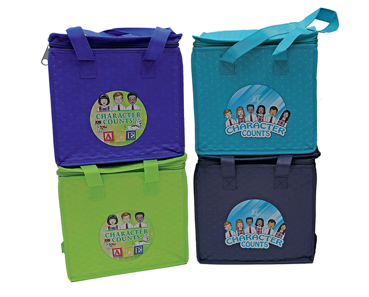 lunch totes with character counts image