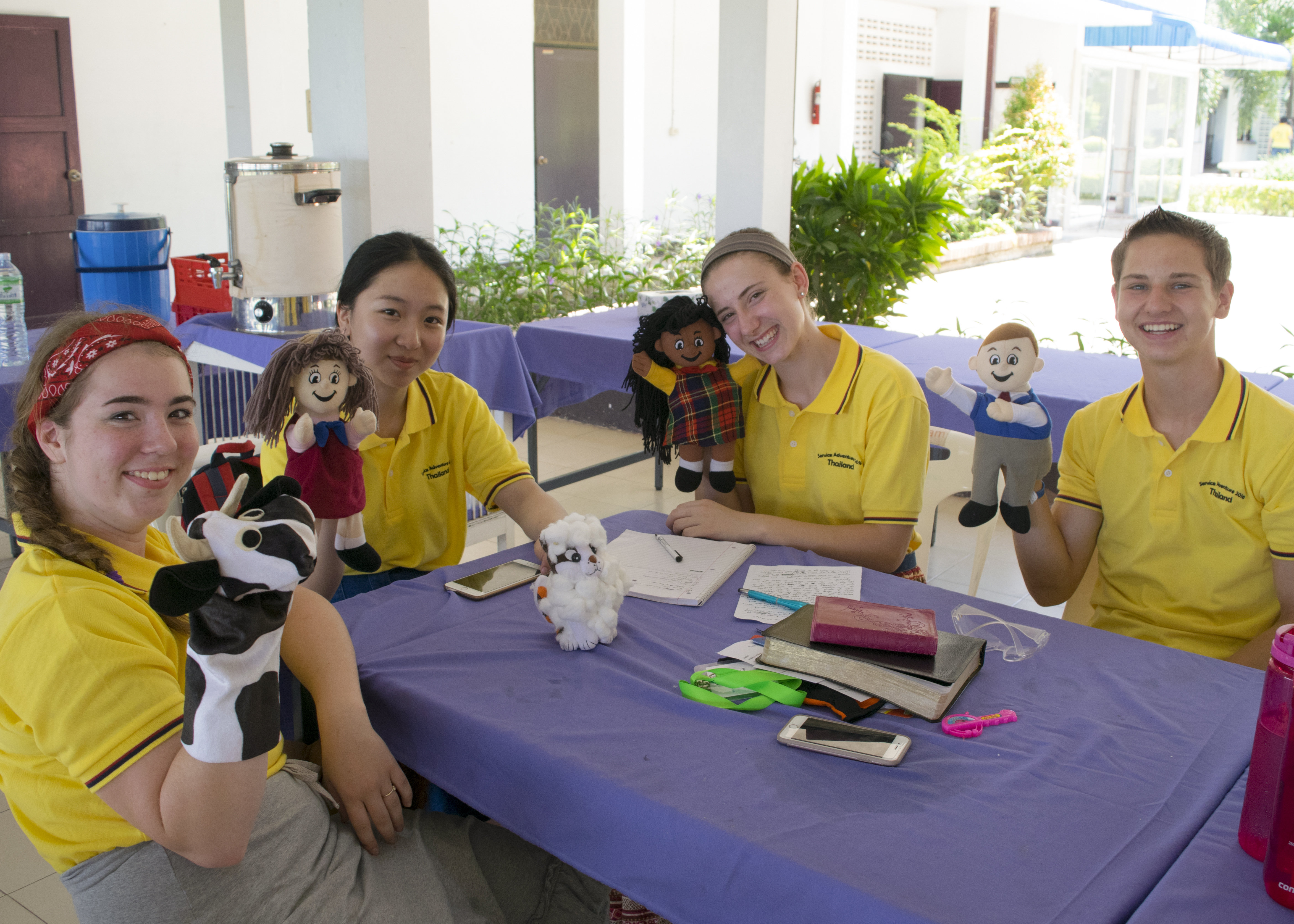 puppet group at service adventure