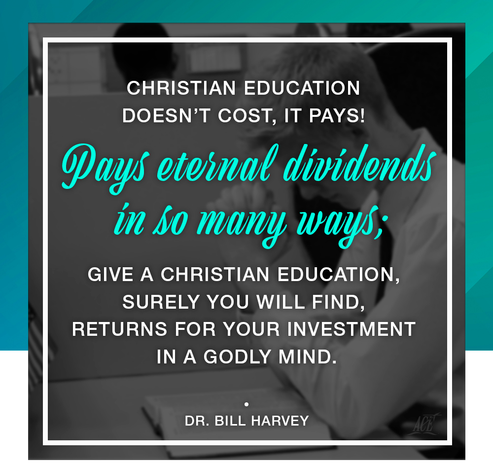 Christian education does not cost it pays!